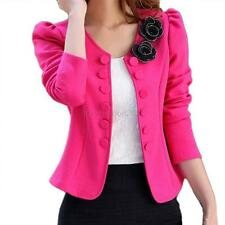 New Women's One Button Slim Casual Business Blazer Suit Jacket Coat Outwear Top