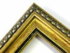 1 3/8 'Gold Patina Ornate Solid Wood Picture Frame-Custom Standard Size