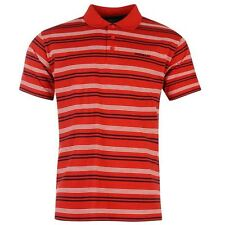 Donnay Kids Stripe Polo Shirt T Shirt Tee Short Sleeves Button Neck Junior Boys