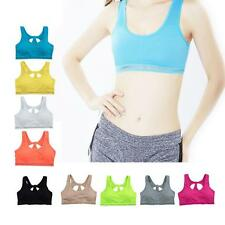 Women Sports Bras Wireless Padded Yoga Bra Quick Dry Running Gym Bra Cropped Top