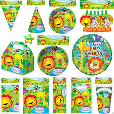 Animal Lion Jungle Birthday Party Pack Jungle Party Table Ware Decoration