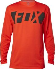 NEW FOX RACING MENS ADULT CEASE LONG SLEEVE TECH TEE FLAME RED TEE L/S SHIRT LS