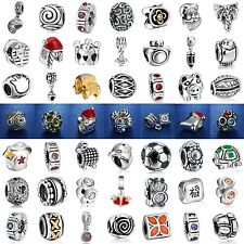 Fashion New European Silver Charm Beads Fit sterling 925 Necklace Bracelet Chain