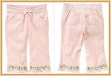 NWT Gymboree baby Girl sz  6-12 Mo PRETTY PEA Pink Embroidered Corduroy Pants