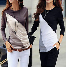 Women Casual Tops New T-Shirt Loose Fashion Blouse Cotton Blouse Long Sleeve V