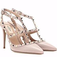 VALENTINO ROCKSTUD ROLLING ANKLE T-STRAP BOOTS US 6-12 HIGH HEELS SANDALS