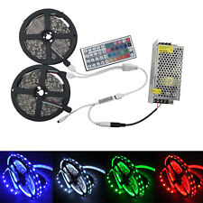 10M 5050 RGB LED Strip  Bar Light+44 Key IR Controller+DC 12V 10A Power Adapter