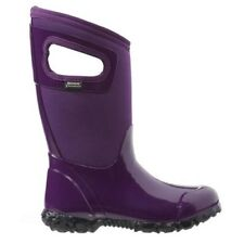 GIRLS BOGS NORTH HAMPTON SOLID PURPLE INSULATED KIDS WARM WELLINGTON BOOTS 71844
