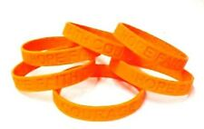 Orange Awareness Bracelets Lot of 6 Pieces Silicone Wristband Cancer Cause New