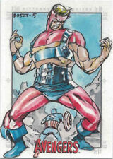 Marvel Avengers Silver Age Sketch Card by Erwin Ropa of Iron Man