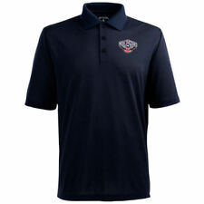 Antigua New Orleans Pelicans Pique Xtra-Lite Performance Polo - Navy Blue - NBA