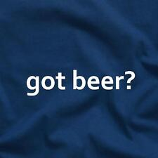 Got Beer? College Party Fun Drinking Game Funny Tee T-Shirt Blue