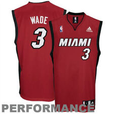 Dwyane Wade Miami Heat adidas Youth Replica Alternate Jersey - Red - NBA