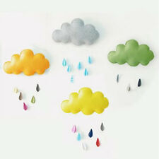 1X 3D Colorized Cloud Raindrop Wall Stickers Decals Mural Baby Kids Room Decor