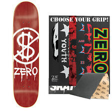 """ZERO Skateboard Deck HARDLUCK 8.25"""" (Assorted Colors) with MOB Griptape"""