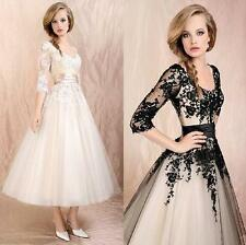 Women's Wedding Dress Lace Prom Ball Cocktail Party Bridal Formal Evening gown@@