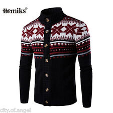 Stylish Mens Knitted Cardigan Jacket Long Sleeve Casual Sweater Coat Outwear Top