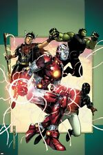 Marvel Young Avengers No.3 Cover: Iron Lad, Wiccan, Hulkling and Patriot Poster