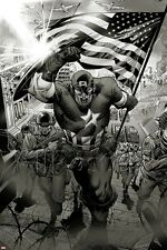 Marvel Captain America: Man out of Time No.1: Captain America Charging Poster