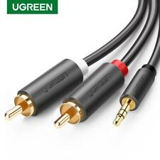 Ugreen 2 RCA Male To 3.5mm Speaker Cable Stereo Audio Jack Plug Y Adapter