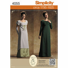 NEW OOP REGENCY ERA SENSE & SENSIBILITY 1705-1825 DRESS GOWN PATTERN 4055 6-20