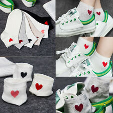 Women's Lady Heart Casual Cute Heart Ankle High Low Cut Soft Cotton Socks 1 pair