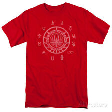 Battle Star Galactica- Colonial Icons Apparel T-Shirt - Red