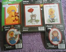 CHOOSE ONE: JANLYNN COUNTED/STAMPED CROSS STITCH KITS SUZY'S ZOO / SESAME STREET