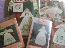 YOUR CHOICE: BUCILLA STAMPED CROSS-STITCH/EMBROIDERY KITS  ANGEL BABIES & DOLLS
