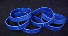 Dark Blue Awareness Bracelets 12 Piece Lot Silicone Wristband Cancer Cause New