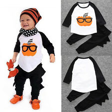 2pcs Newborn Toddler Infant Baby Boy Clothes T-shirt Tops+Pants Kids Outfits Set