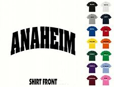 City Of Anaheim College Letters T-Shirt #426 - Free Shipping