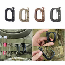 D-Ring Molle Tactical Backpack EDC Shackle Carabiner Snap Clip KeyRing Locking