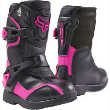 FOX RACING GIRLS KIDS CHILD COMP 5K BLACK PINK MX MOTOCROSS BOOTS RIDING RACING