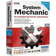 New iolo System Mechanic PC TotalCare For 3 PCs In Factory-Sealed U.S.Retail Box