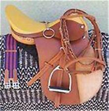 """16"""" NEW LEATHER CAMBRIDGE ENGLISH JUMP ALL PURPOSE SADDLE PACKAGE TAN"""