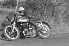 Norton 350cc factory racer & Ken Kavanagh - Ulster GP 1953 - photo 2