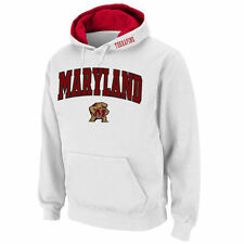 Maryland Terrapins Stadium Athletic Arch & Logo Pullover Hoodie - White