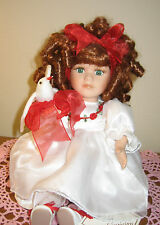 Collectors Choice DOLL fine bisque porcelain Plays THANK HEAVEN for LITTLE GIRLS