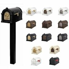 GAINES KEYSTONE MAILBOX WITH MATCHING MAIL BOX POST 13 VARIATIONS AVAILABLE