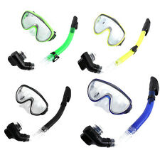 Adult Swimming Diving Scuba Full Dry Snorkel Breathing Tube& Mask Glasses Set