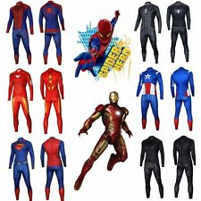 Superhero The Avengers Costume Cycling Jersey Long Sleeve T-shirts +Pants Suits