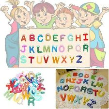 New 26 Letters 10 Numbers Childrens Kids Alphabet Spelling Fridge Magnets Toy