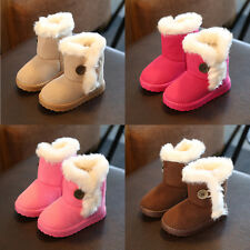 New Baby Shoes Toddler Boys Girls Boots Fur Winter Children Kids Snow Boots