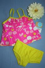 CARTERS 12 MONTH BABY GIRLS PINK RUFFLE TANKINI TWO PIECE UPF 40 SWIMSUIT NWT