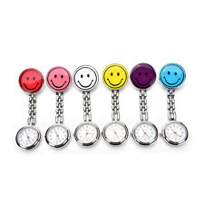 Smile Face Clip-on Nurse Doctor Brooch Pendant Fob Pocket Quartz Watch FF