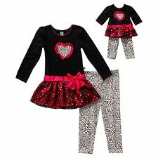 """Matching Doll and Girl Clothes Hearts Outfit Dollie & Me fits 18"""" American Girl"""