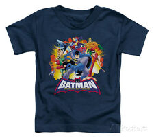 Toddler: Batman The Brave and the Bold - Explosive Heroes Baby T-Shirt - Navy