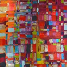 LARGE ABSTRACT CANVAS PRINT SIGNED BY CAROLINE ASHWOOD MODERN ART READY TO HANG