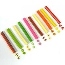 Fruit Theme Fimo Polymer Clay Stick Rod Nail Art Or Scrapbooking Decoration 50mm